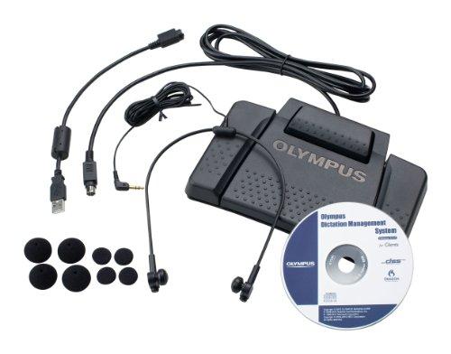Olympus AS-7000 PC Transcription Kit inkl. Stereo Kopfhoerer E62 Fussschalter RS-31 ODMS (Olympus Kopfhörer)