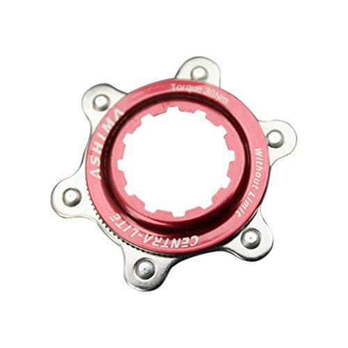 6SlonHyMountainbike Center Lock Scheibenbremsenhalterung Adapter f¨¹r 6-Loch-Rotoren - Rot