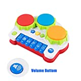 SGILE Early Education Piano&Drums Instrument with 4 Musical Modes, Animal Sounds and Light - 1 2 3 Year Olds Baby Toy, Learning Electronic Keyboard for Toddlers Kids Boys and Girls