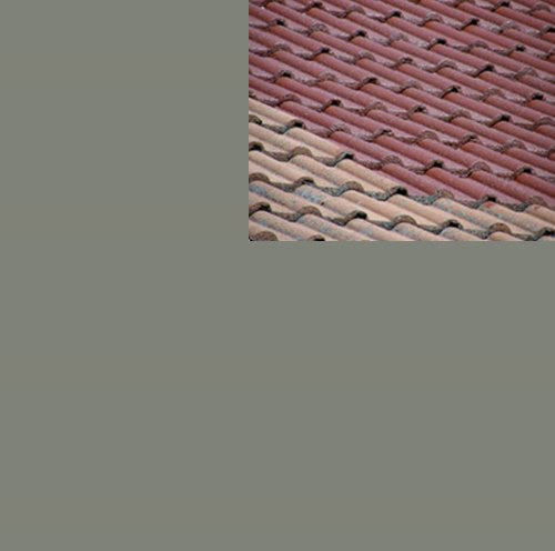 1L Ziegelfarbe Dachfarbe Dachbeschichtung Dachversiegelung in Betongrau Dachrenovierung Metalldach Blechdach Flachdach Farbe Beschichtung Anstrich Ziegel Dach