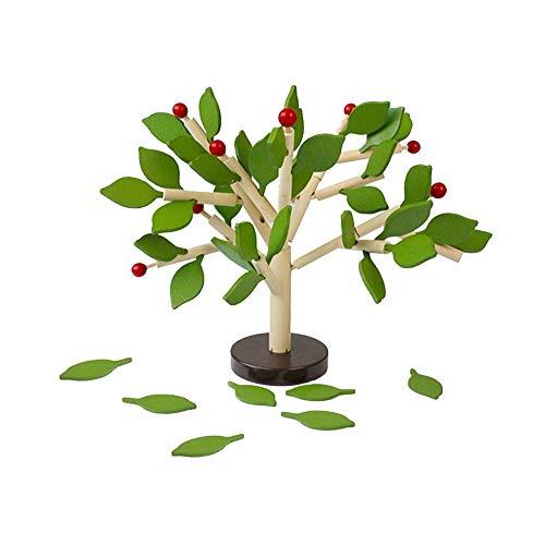 ne ??Tree Set für Kinder Kinder Männer Vorschul Jungen und Mädchen DIY Lernen Bildungs ??3D Holz Assembly Spielzeug Tile Spiel Home Office Decor Green Leaves ()