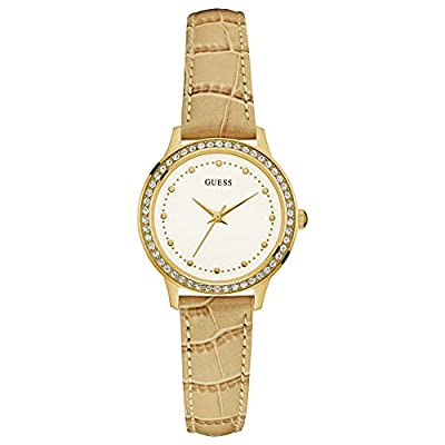Guess Reloj Analógico para Mujer de Cuarzo con Correa en Cuero W0648L3 de Guess