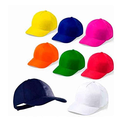 Gorra Infantil Ajustable Colores. Lote 20 Unidades
