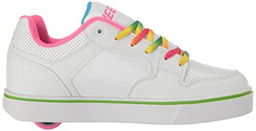 Heelys Motion Plus, Sneaker a Collo Basso Bambina Bianco (White / Rainbow)