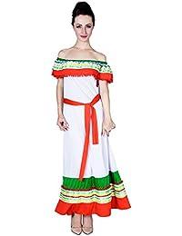 SEA HARE Disfraz de Disfraces española para Mujer Disfraz de Mexicana