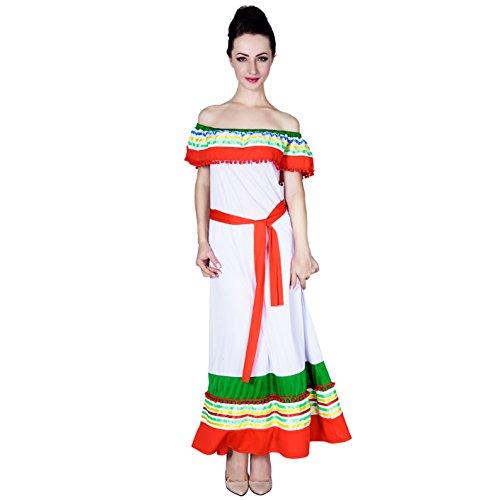 SEA HARE Frauen mexikanisches Kleid spanisches ()