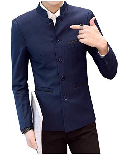 DressUMen Estilo de la universidad del collar del soporte traje chino túnica...
