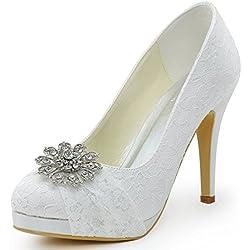 Zapato de Boda con tacón de aguja y plataforma - varios tonos a elegir