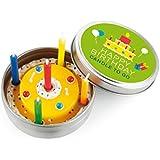 Donkey Kerze in Blechdeckeldose, Happy Birthday, 220451