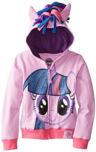 My Little Pony Twilight Sparkle Glitter Hair Mädchens Purple Hoodie (Mädchens 16)