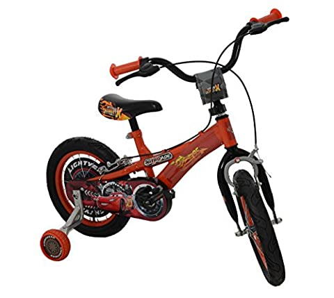 Disney Cars Boy's Printed Crash Pad Bike - Red, 14-Inch by Disney