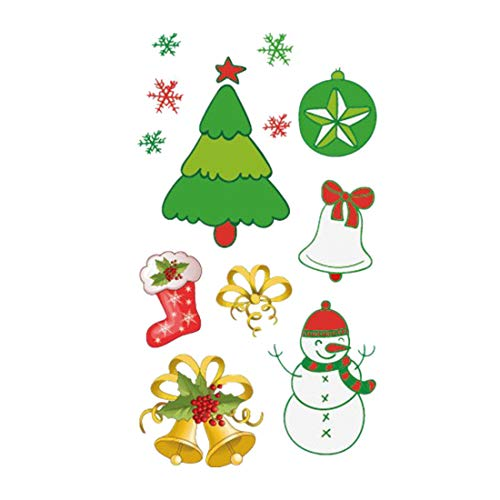 FORH Tattoo Art Wasserdichte Leuchtende Muster Gesichtsmaske Schönheit Aufkleber Entfernbar Tattoo Weihnachten DamenTattoos Decor Temporäre Tätowierung