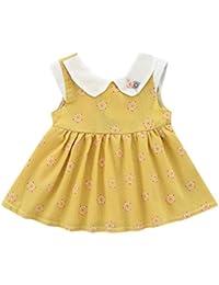 vestidos de niña, ASHOP Vestido sin mangas estampado de flores vestidos de fiesta princesa niña Vestido de Tutú casual vestido de verano Ropa para 0-24 meses, Hot sale!