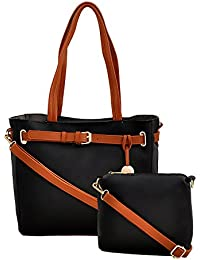 Mark & Keith Women Black Handbag (MBG 0433 BK)