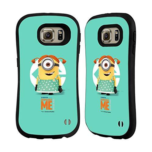 Head Case Designs Offizielle Despicable Me Stuart Maedchen Kostuem Minions Hybride Huelle kompatibel mit Samsung Galaxy S6