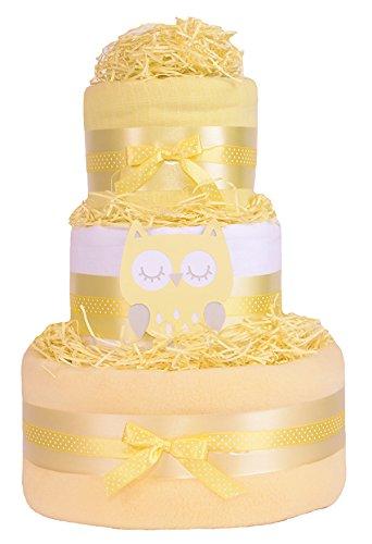 trendige-eule-3-etagen-baby-dusche-windeltorte-geschenk-unisex-gelb-geschenkkorb-schnell-kostenlose-