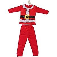 BESTOYARD Ropa Papa Noel Disfraz Santa Claus para Infantil niños niñas Trajes de Navidad (Tamaño 80)