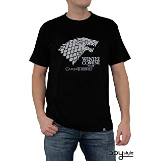 ABYstyle - GAME OF THRONES - Tshirt - Winter is coming - men - black (XL)