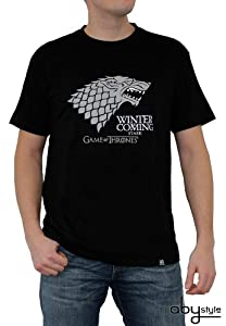 ABYstyle abystyleabytex221-xxl Abysse Juego de Tronos Winter Is Coming de manga corta Hombre basic camiseta (2 x -Large)