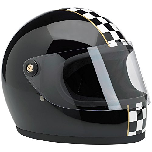 Casco Integral Biltwell Gringo S Las Checker Negro Full-Custom Biker Face Moto 2XL negro