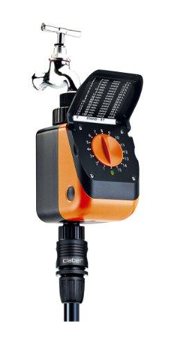 Galleria fotografica Claber 53923 8419 Aquauno Logica Plus Programmatore, Nero/Arancione
