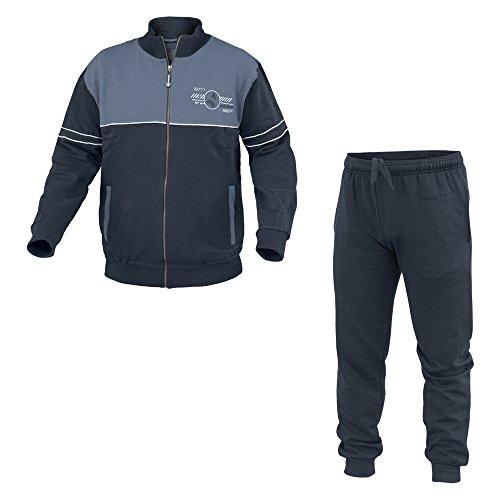 Tuta Uomo NAVIGARE Sport Cotone Felpato Tg Forti 2 Colori Full Zip Art.28229B ( Jeans - 56 / 3XL)