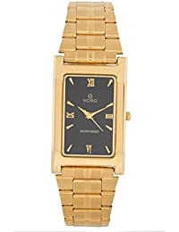 Horo(Imported) Chain Gold Plated Steel Round Wrist Watch 38X32mm