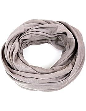 Kinder - Loop uni taupe beige für Kinder und Jugendliche, Kids Schlauchschal, Schal Tuch für Mädchen und Jungs...