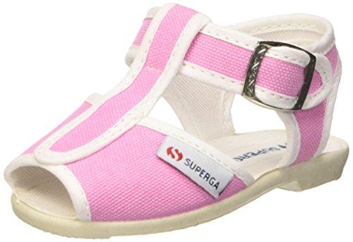 Superga 1200-Cotj, Sandali con Cinturino a T Unisex - Bambini, Rosa (Pink Begonia), 26 EU