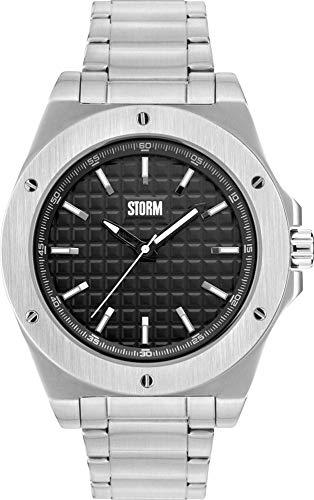 Storm London Hexton 47285/BK Reloj de Pulsera para hombres Carcasa Maciza