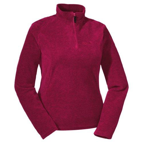 Jack Wolfskin Fleece Pullover OAKRIDGE. Damen. Mittelwarm. Melangeoptik. Red. Gr. XS
