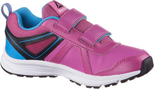 Reebok Almotio 3.0 2v, Scarpe da Corsa Bambino Multicolore (Charged Pink/California Blue/Black)