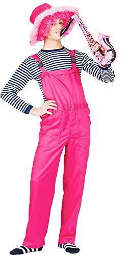 Latzhose zum Faschingskostüm in Neonfarben - Pink Gr. M