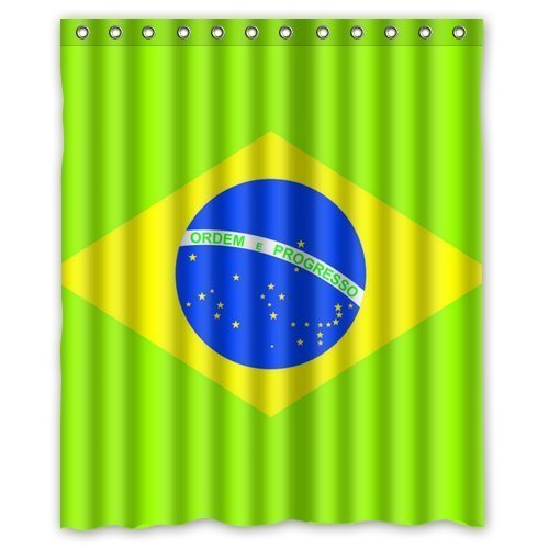 brasil-flagordem-e-progresso-background-waterproof-shower-curtain-bath-curtain-size-60
