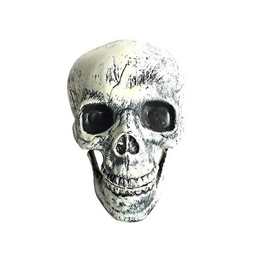 Winpavo Halloween-Deko Halloween Party Requisiten Decoración Realista Del Cráneo Del Ornamento De La Cabeza Del Cráneo De Halloween para La Mesa Del Partido De Halloween