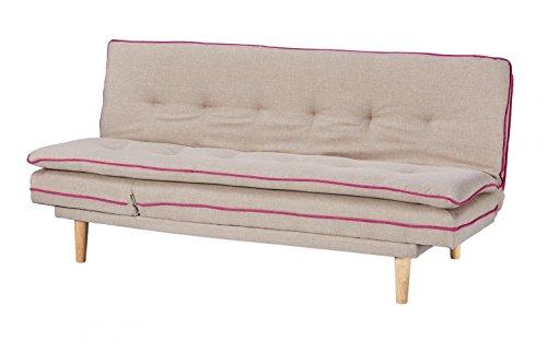 CAGUSTO Schlafsofa Borris beige, Klappsofa mit Schlaffunktion im skandinavischen Design, modernes Bettsofa, Verstellbare Schlafcouch mit Holzfüßen