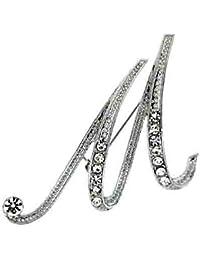 Brooches Store Initial Letter K Swarovski Crystal Brooch Rg0EMry