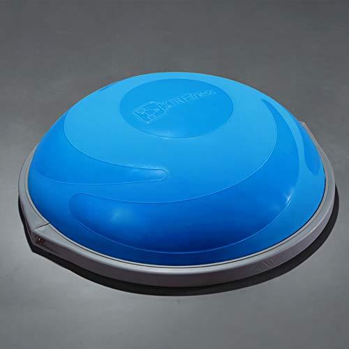 ZHLXZ Half Ball Balance Trainer, Ø 60Cm Inkl Hand Pumpe Beidseitig Nutzbar,Blue,C -
