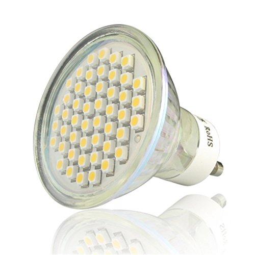 10 ampoules de tache de GU10 3.6W 48 SMD3528 LED chauffent le blanc/jour blanc