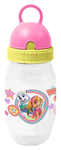 Paw Patrol Teamwork Pixie-Trinkflasche, Plastik, Pink and Yellow, 7.1 x 7.1 x 18.8 cm (Business Teamwork)