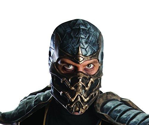 Mortal Kombat Skorpion Delux Maske für Erwachsene Latex Maske (Mortal Kombat Halloween Kostüme Für Erwachsene)
