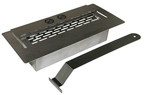Camera di combustione in acciaio inox circa 1,5L regolabile con cursore & spugna di ceramica
