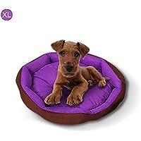 Inciple Fashionable Pet Nest Impermeable Oxford Cloth Kennel Round Printed House para perros Gatos, práctico, cómodo y agradable para la piel, Necesidad diaria