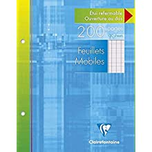 Clairefontaine Metric Set of 2 Paper Refill Pads Large Squares 17x22cm Assorted Colours