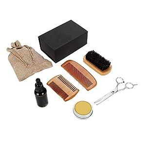 Bartpflegeset – Bart-Kit, Schnurrbart wachsende glättende Feuchtigkeitsspendende Bartpflege für Männer Brotöl Balsam