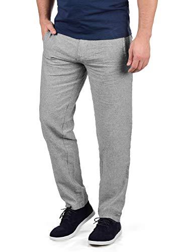 Indicode Ledionos Herren Leinenhose Lange Stoffhose Regular Fit, Größe:L, Farbe:Iron - Lustige Kostüm Für Das Büro