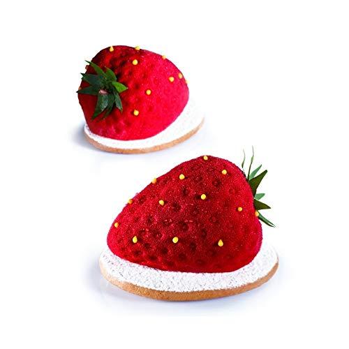 "Basket of Heads-Silicone Kitchen Mould ""tutti frutti-Strawberry-20Tracks"