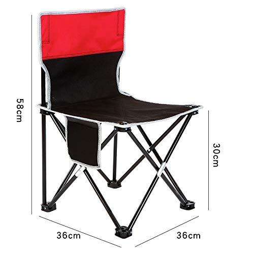 Zurück Stühle, Hocker (wnwl Outdoor Klappstuhl Tragbar Mazar Hocker Zurück Kunst Skizze Stuhl Angeln Camping Strand Bank Höhe 30Cm)