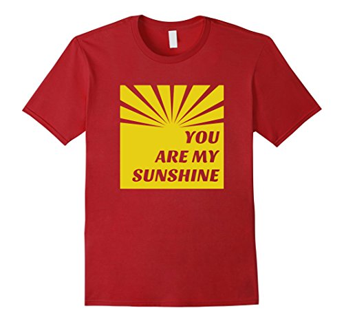 sunshine-shirt-retro-starburst-hipster-you-are-my-sun-shine-herren-gre-2xl-cranberry