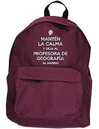HippoWarehouse Mantén la Calma y Deja a la Profesora de Geografía al Mando kit mochila Dimensiones: 31 x 42 x 21 cm Capacidad: 18 litros